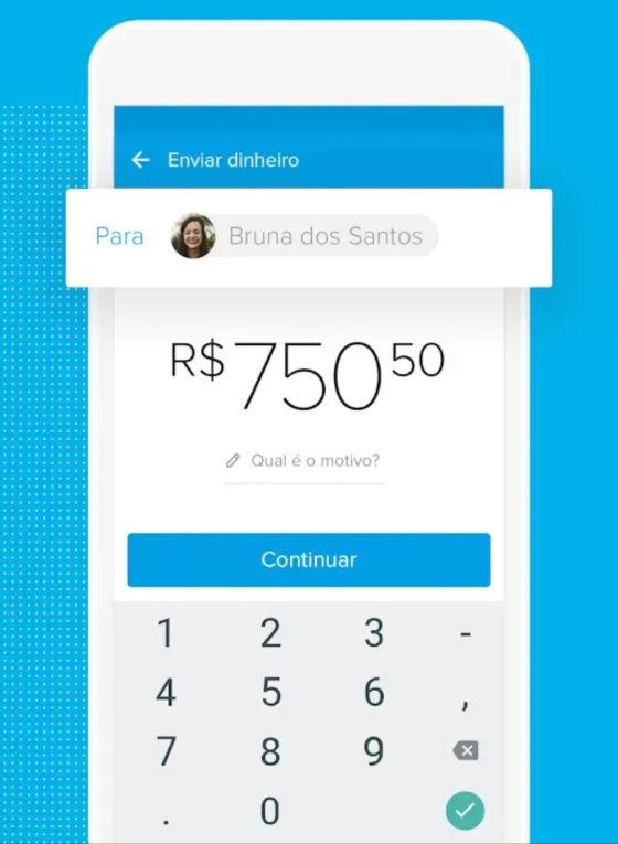Aplicativo com a conta do Mercado Pago, através dele é possível fazer pagamentos, transferências e muito mais...