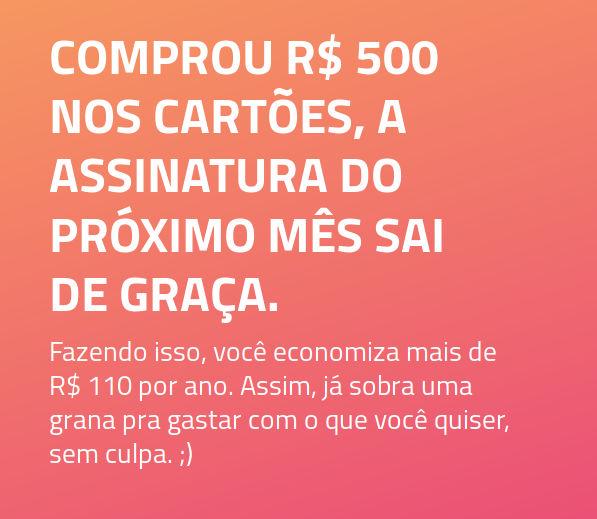 Gastos de R$500 ou mais no cartão isentam o correntista da mensalidade da conta Superdigital.