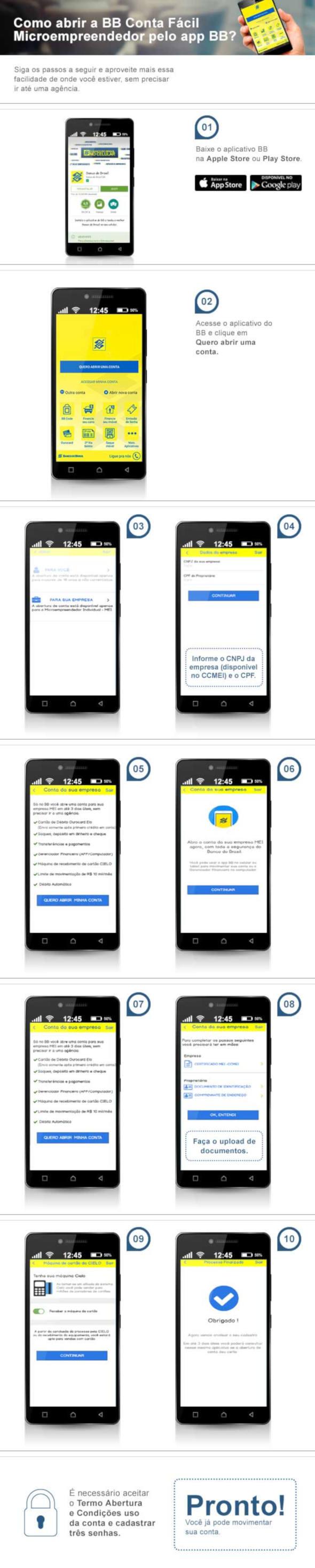 Tutorial abertura de conta MEI pelo celular no Banco do Brasil.